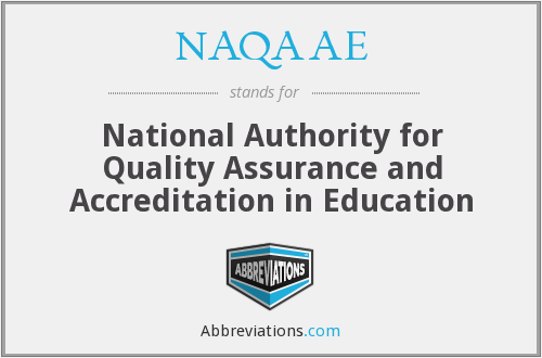What does NAQAAE stand for?