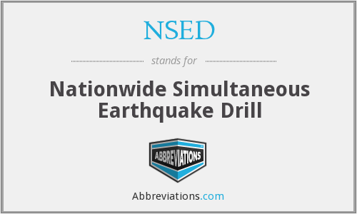 NSED - Nationwide Simultaneous Earthquake Drill