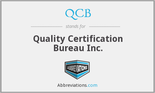 QCB - Quality Certification Bureau Inc.
