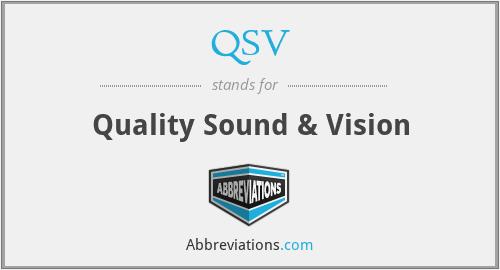QSV - Quality Sound & Vision