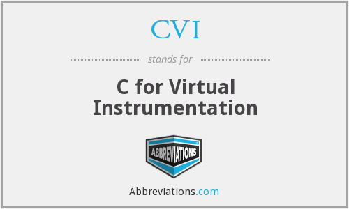 CVI - C for Virtual Instrumentation