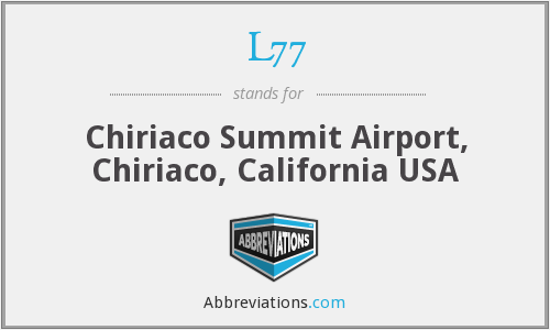 L77 - Chiriaco Summit Airport, Chiriaco, California USA