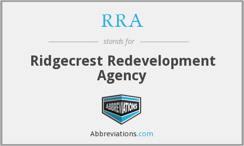 RRA - Ridgecrest Redevelopment Agency
