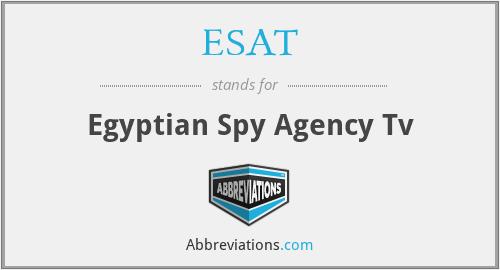 ESAT - Egyptian Spy Agency Tv