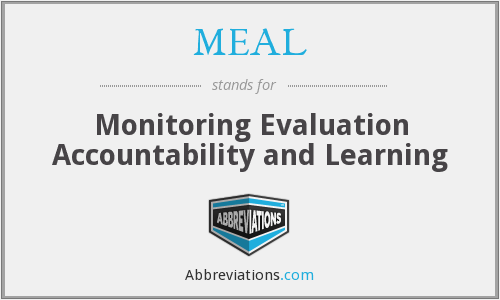 MEAL - Monitoring Evaluation Accountability and Learning