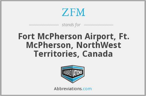ZFM - Fort McPherson Airport, Ft. McPherson, NorthWest Territories, Canada