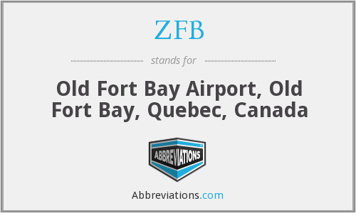 ZFB - Old Fort Bay Airport, Old Fort Bay, Quebec, Canada