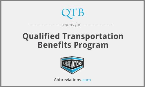 QTB - Qualified Transportation Benefits Program