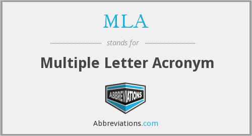 MLA - Multiple Letter Acronyms
