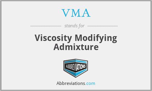 VMA - Viscosity Modifying Admixture