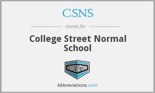 What does CSNS stand for?