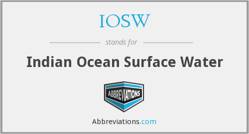 What does IOSW stand for?