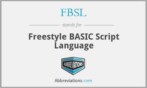 FBSL - Freestyle BASIC Script Language