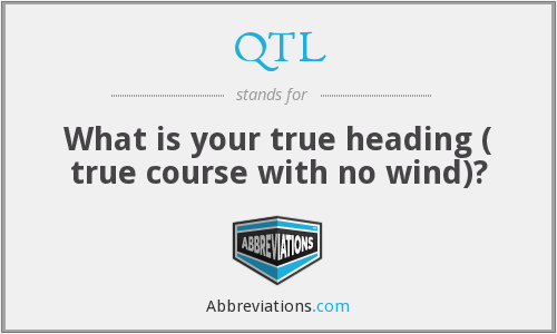 QTL - What is your true heading ( true course with no wind)?