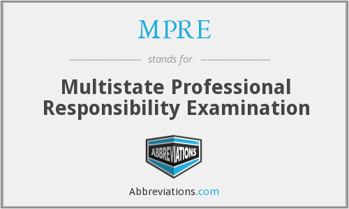 What does MPRE stand for?