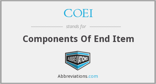 What does COEI stand for?