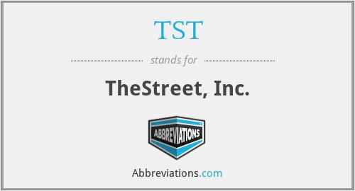 TST - TheStreet, Inc.