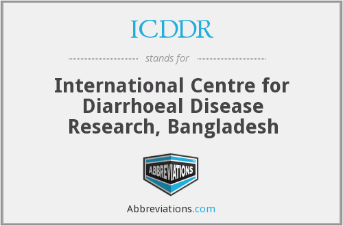 What does ICDDR stand for?