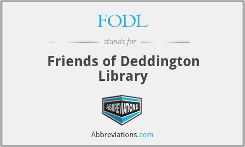 FODL - Friends of Deddington Library