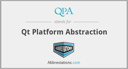 QPA - Qt Platform Abstraction