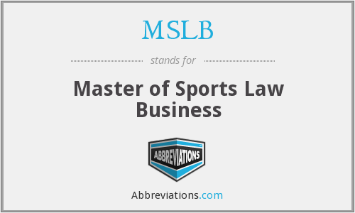 MSLB - Master of Sports Law Business