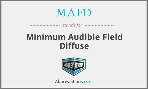 MAFD - Minimum Audible Field Diffuse