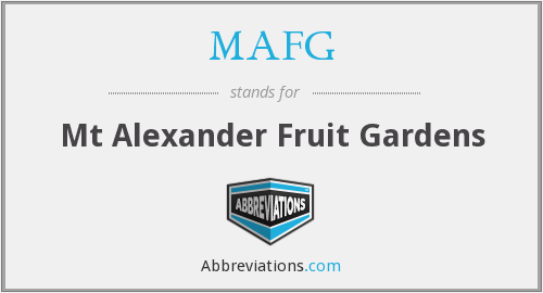 What does MAFG stand for?