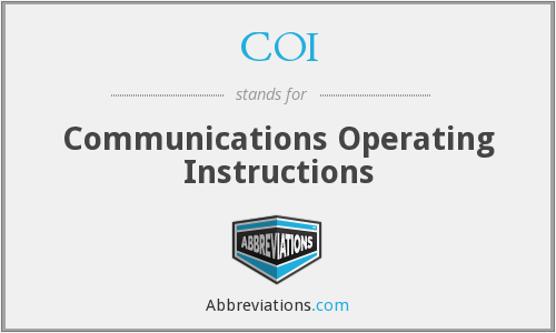 COI - Communications Operating Instructions