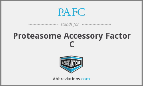 PAFC - Proteasome Accessory Factor C