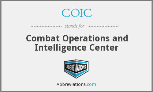 COIC - Combat Operations and Intelligence Center