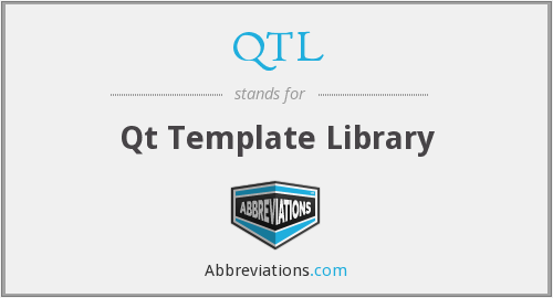 QTL - Qt Template Library