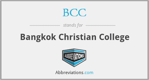 BCC - Bangkok Christian College