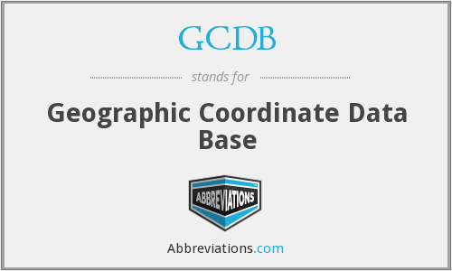 What does GCDB stand for?