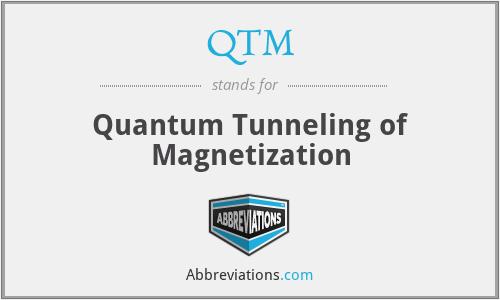 QTM - Quantum Tunneling of Magnetization