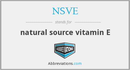 What does NSVE stand for?