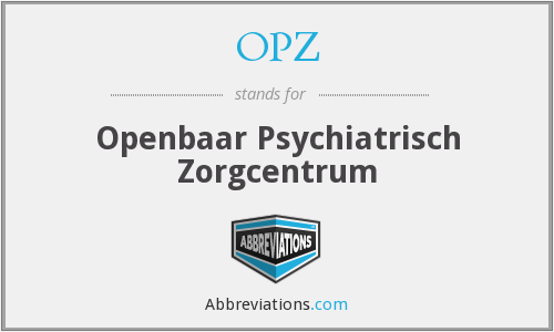 What does OPZ stand for?