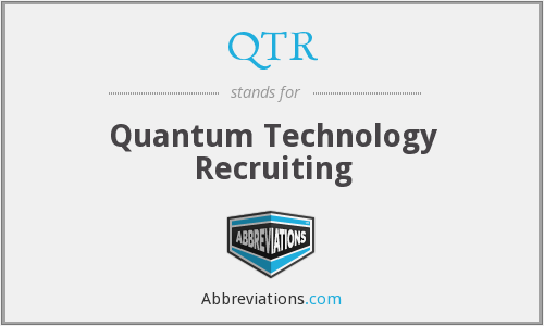 QTR - Quantum Technology Recruiting