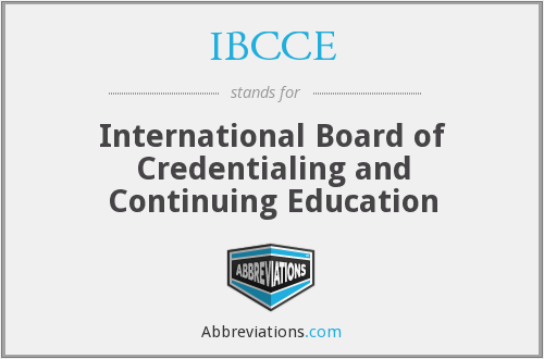 What does IBCCE stand for?