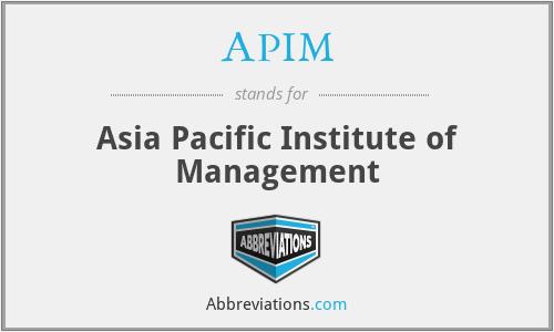 APIM - Asia Pacific Institute of Management
