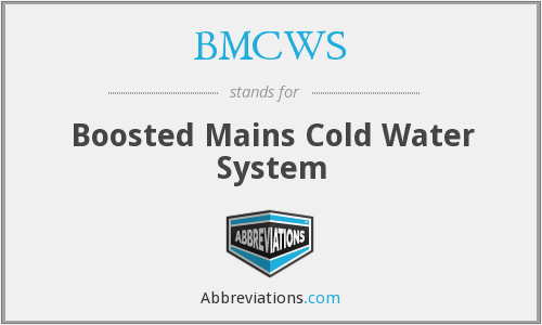 BMCWS - Boosted Mains Cold Water System