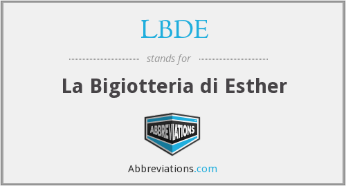 What does LBDE stand for?
