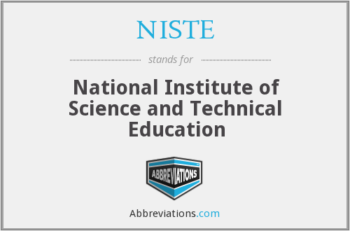What does NISTE stand for?