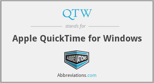 QTW - Apple QuickTime for Windows