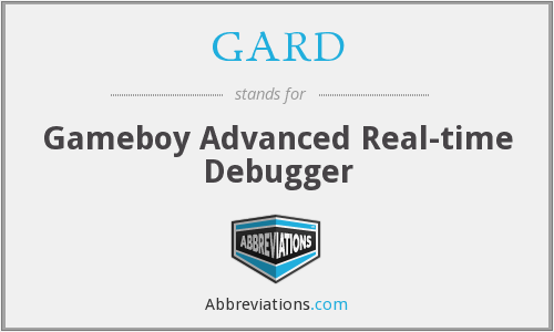 GARD - Gameboy Advanced Real-time Debugger