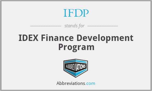 IFDP - IDEX Finance Development Program