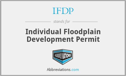 IFDP - Individual Floodplain Development Permit