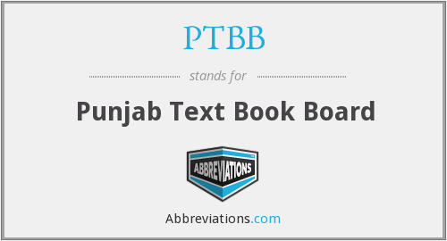 PTBB - Punjab Text Book Board