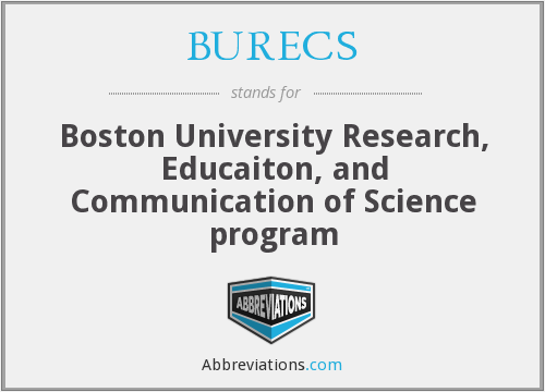 What does BURECS stand for?