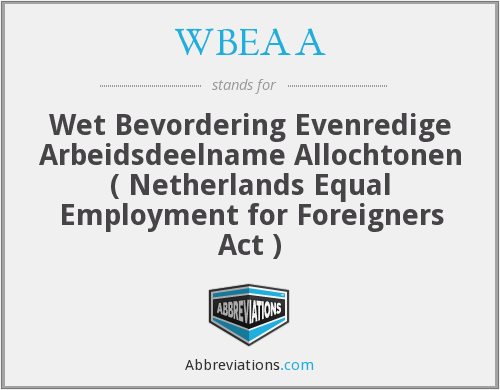 What does WBEAA stand for?