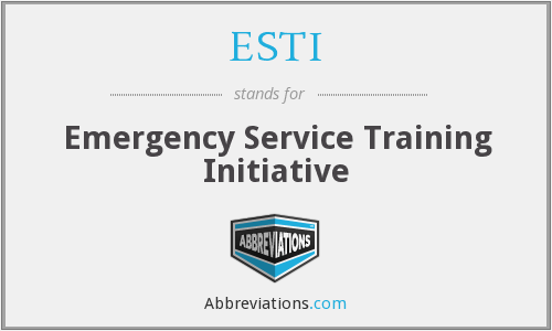 What does ESTI stand for?